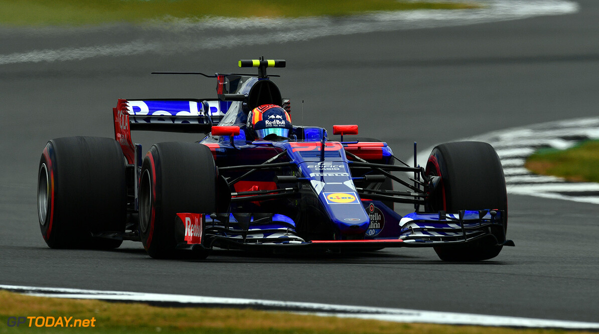 NORTHAMPTON, ENGLAND - JULY 14: Carlos Sainz of Spain driving the (55) Scuderia Toro Rosso STR12 on track during practice for the Formula One Grand Prix of Great Britain at Silverstone on July 14, 2017 in Northampton, England.  (Photo by Dan Mullan/Getty Images) // Getty Images / Red Bull Content Pool  // P-20170714-01592 // Usage for editorial use only // Please go to www.redbullcontentpool.com for further information. //  F1 Grand Prix of Great Britain - Practice Dan Mullan Silverstone United Kingdom  P-20170714-01592