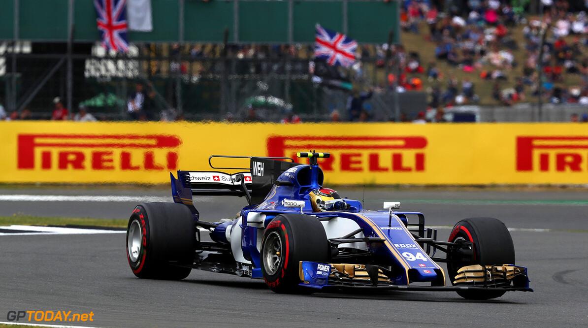 British GP Race 16/07/17 Pascal Wehrlein (D), Sauber F1 Team. Silverstone Circuit.  British GP Race 16/07/17 Jean-Francois Galeron Silverstone Great Britain  F1 Formula One 2017 Action Wehrlein Sauber
