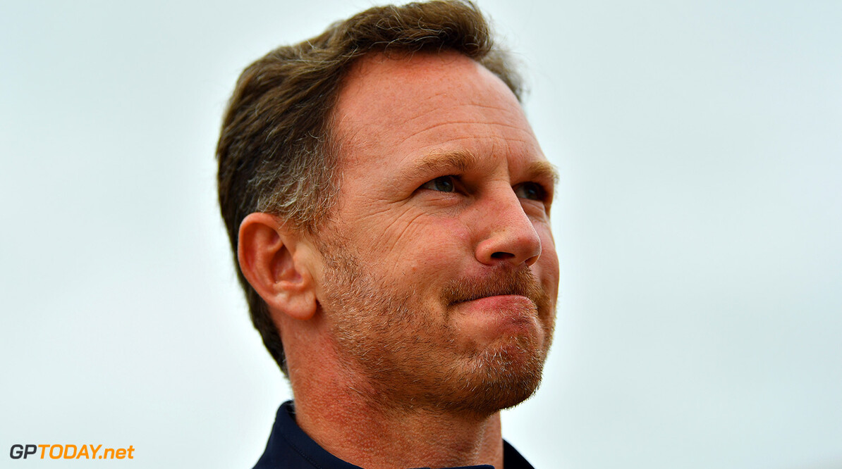 NORTHAMPTON, ENGLAND - JULY 16:  Red Bull Racing Team Principal Christian Horner walks in the Paddock before the Formula One Grand Prix of Great Britain at Silverstone on July 16, 2017 in Northampton, England.  (Photo by Dan Mullan/Getty Images) // Getty Images / Red Bull Content Pool  // P-20170716-00774 // Usage for editorial use only // Please go to www.redbullcontentpool.com for further information. //  F1 Grand Prix of Great Britain Dan Mullan Silverstone United Kingdom  P-20170716-00774
