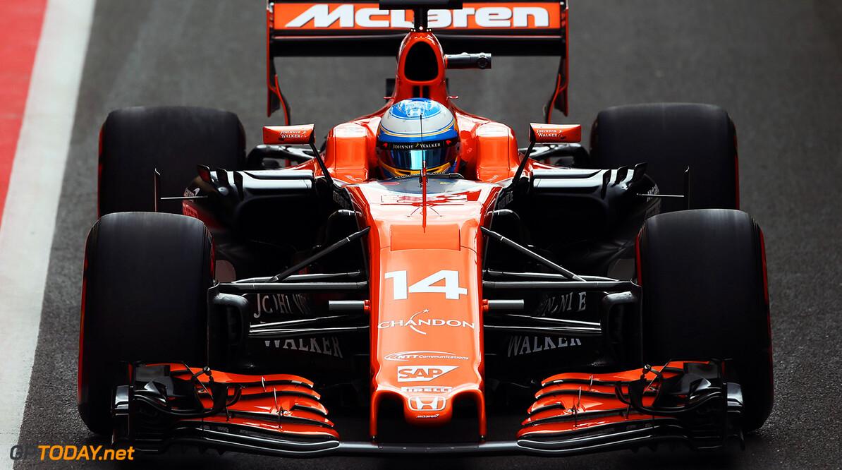 Formula One World Championship Silverstone, Northamptonshire, UK. Friday 14 July 2017. Fernando Alonso, McLaren MCL32 Honda. Photo: Sutton/McLaren ref: Digital Image SUT_British_Grand__1507359 British Grand Prix Practice  Silverstone England  f1 formula 1 formula one gp grand prix Action