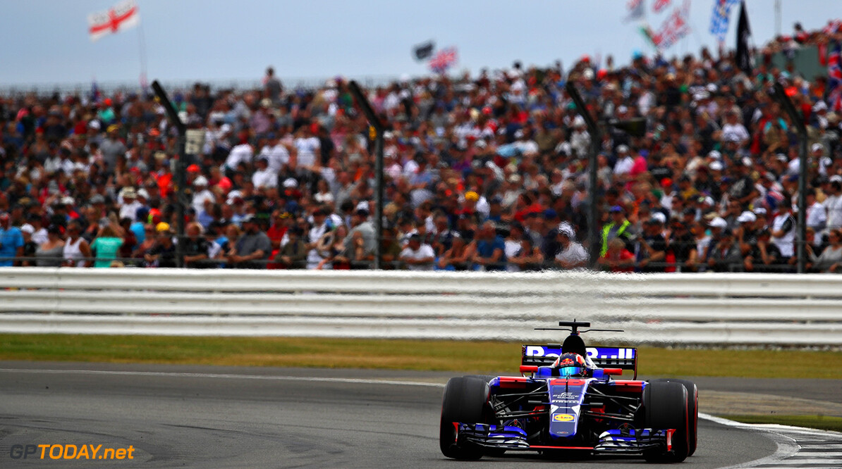 NORTHAMPTON, ENGLAND - JULY 16:  Daniil Kvyat of Russia driving the (26) Scuderia Toro Rosso STR12 on track during the Formula One Grand Prix of Great Britain at Silverstone on July 16, 2017 in Northampton, England.  (Photo by Clive Mason/Getty Images) // Getty Images / Red Bull Content Pool  // P-20170716-01242 // Usage for editorial use only // Please go to www.redbullcontentpool.com for further information. //  F1 Grand Prix of Great Britain Clive Mason Silverstone United Kingdom  P-20170716-01242