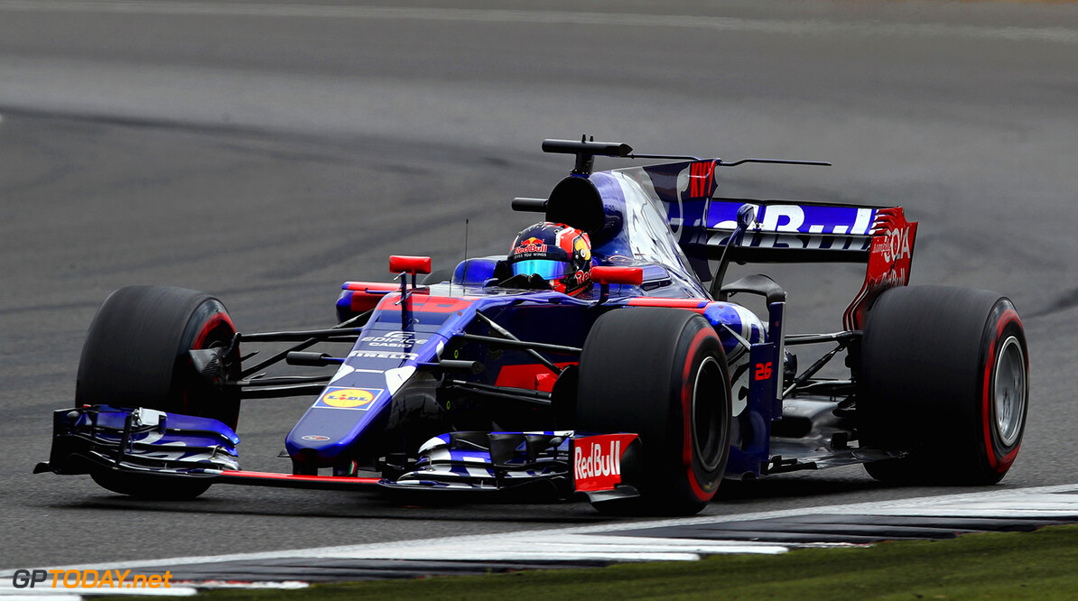 NORTHAMPTON, ENGLAND - JULY 16:  Daniil Kvyat of Russia driving the (26) Scuderia Toro Rosso STR12 on track during the Formula One Grand Prix of Great Britain at Silverstone on July 16, 2017 in Northampton, England.  (Photo by Clive Mason/Getty Images) // Getty Images / Red Bull Content Pool  // P-20170716-01248 // Usage for editorial use only // Please go to www.redbullcontentpool.com for further information. //  F1 Grand Prix of Great Britain Clive Mason Silverstone United Kingdom  P-20170716-01248
