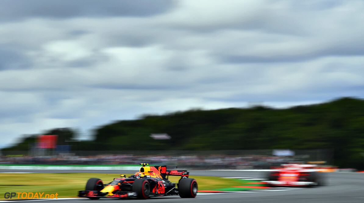 NORTHAMPTON, ENGLAND - JULY 16:  Max Verstappen of the Netherlands driving the (33) Red Bull Racing Red Bull-TAG Heuer RB13 TAG Heuer on track during the Formula One Grand Prix of Great Britain at Silverstone on July 16, 2017 in Northampton, England.  (Photo by Dan Mullan/Getty Images) // Getty Images / Red Bull Content Pool  // P-20170716-00852 // Usage for editorial use only // Please go to www.redbullcontentpool.com for further information. //  F1 Grand Prix of Great Britain Dan Mullan Silverstone United Kingdom  P-20170716-00852