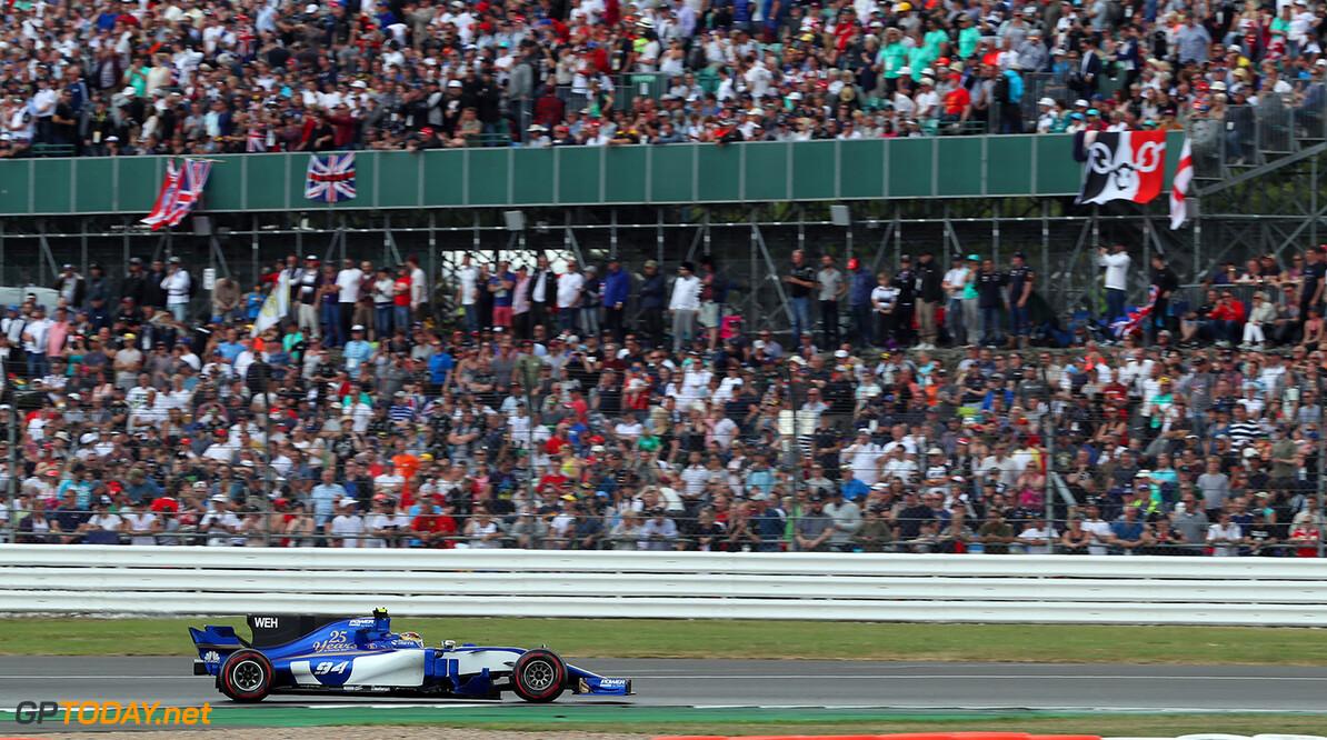 British GP Race 16/07/17 Pascal Wehrlein (D), Sauber F1 Team.  Silverstone Circuit.  British GP Race 16/07/17 Jad Sherif                       Silverstone Great Britain  F1 Formula 1 One 2017 UK England Action Wehrlein Sauber