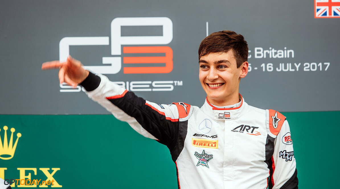 2017 GP3 Series Round 3.  Silverstone, Northamptonshire, UK. Saturday 15 July 2017. George Russell (GBR, ART Grand Prix).  Photo: Malcolm Griffiths/GP3 Series Media Service. ref: Digital Image MALC7218   Malcolm Griffiths    1 Race One