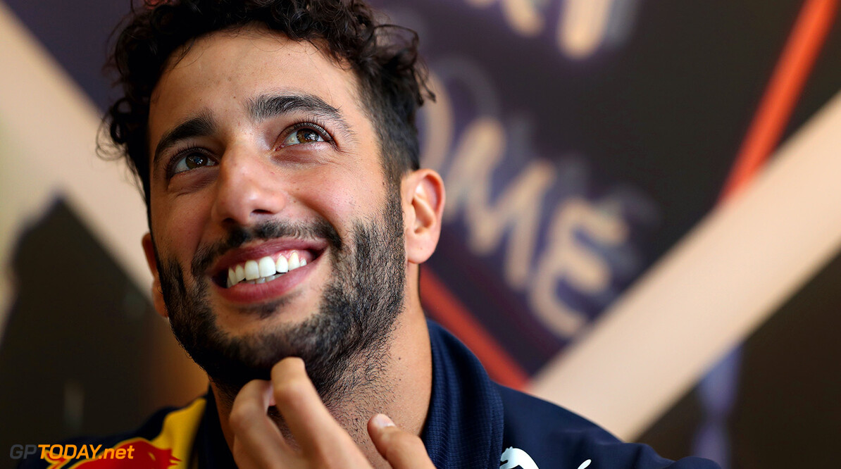 BUDAPEST, HUNGARY - JULY 27:  Daniel Ricciardo of Australia and Red Bull Racing talks during previews ahead of the Formula One Grand Prix of Hungary at Hungaroring on July 27, 2017 in Budapest, Hungary.  (Photo by Mark Thompson/Getty Images) // Getty Images / Red Bull Content Pool  // P-20170727-01061 // Usage for editorial use only // Please go to www.redbullcontentpool.com for further information. //  F1 Grand Prix of Hungary - Previews Mark Thompson Budapest Hungary  P-20170727-01061