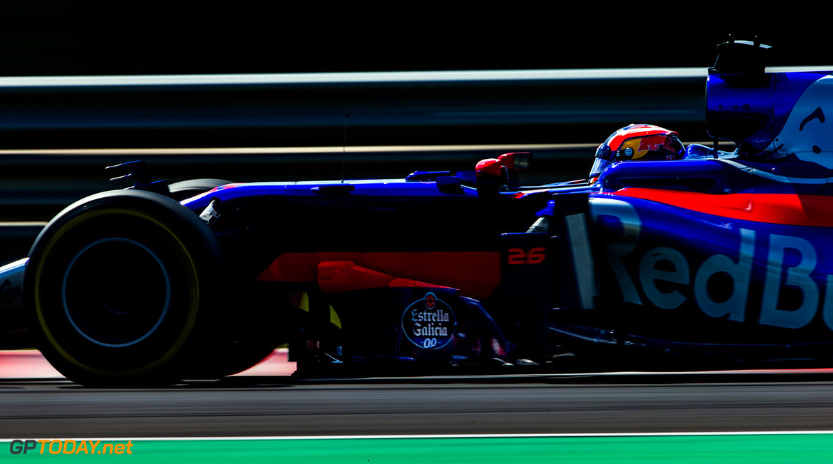 BUDAPEST, HUNGARY - JULY 28:  Daniil Kvyat of Scuderia Toro Rosso and Russia  during practice for the Formula One Grand Prix of Hungary at Hungaroring on July 28, 2017 in Budapest, Hungary.  (Photo by Peter Fox/Getty Images) // Getty Images / Red Bull Content Pool  // P-20170728-02090 // Usage for editorial use only // Please go to www.redbullcontentpool.com for further information. //  F1 Grand Prix of Hungary - Practice Peter Fox Budapest Hungary  P-20170728-02090