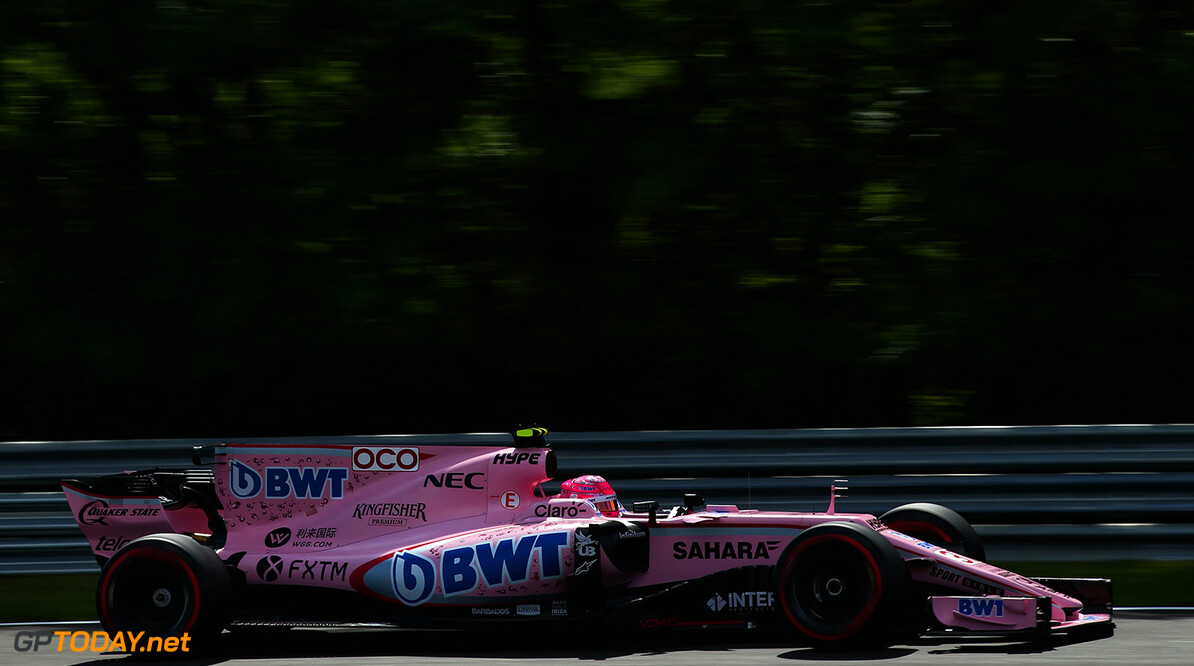 Formula One World Championship Esteban Ocon (FRA) Sahara Force India F1 VJM10. Hungarian Grand Prix, Friday 28th July 2017. Budapest, Hungary. Motor Racing - Formula One World Championship - Hungarian Grand Prix - Practice Day - Budapest, Hungary James Moy Photography Budapest Hungary  Formula One Formula 1 F1 GP Grand Prix Circuit Hungaroring Hungarian Budapest Hungary JM740 Action Track GP1711b GP1711b_M