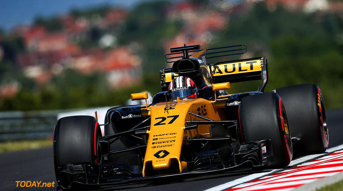 Formula One World Championship Nico Hulkenberg (GER) Renault Sport F1 Team RS17. Hungarian Grand Prix, Friday 28th July 2017. Budapest, Hungary. Motor Racing - Formula One World Championship - Hungarian Grand Prix - Practice Day - Budapest, Hungary Renault Sport Formula One Team Budapest Hungary  Formula One Formula 1 F1 GP Grand Prix Circuit Hungaroring Hungarian Budapest Hungary JM740 Hulkenberg H?lkenberg Huelkenberg Action Track GP1711b