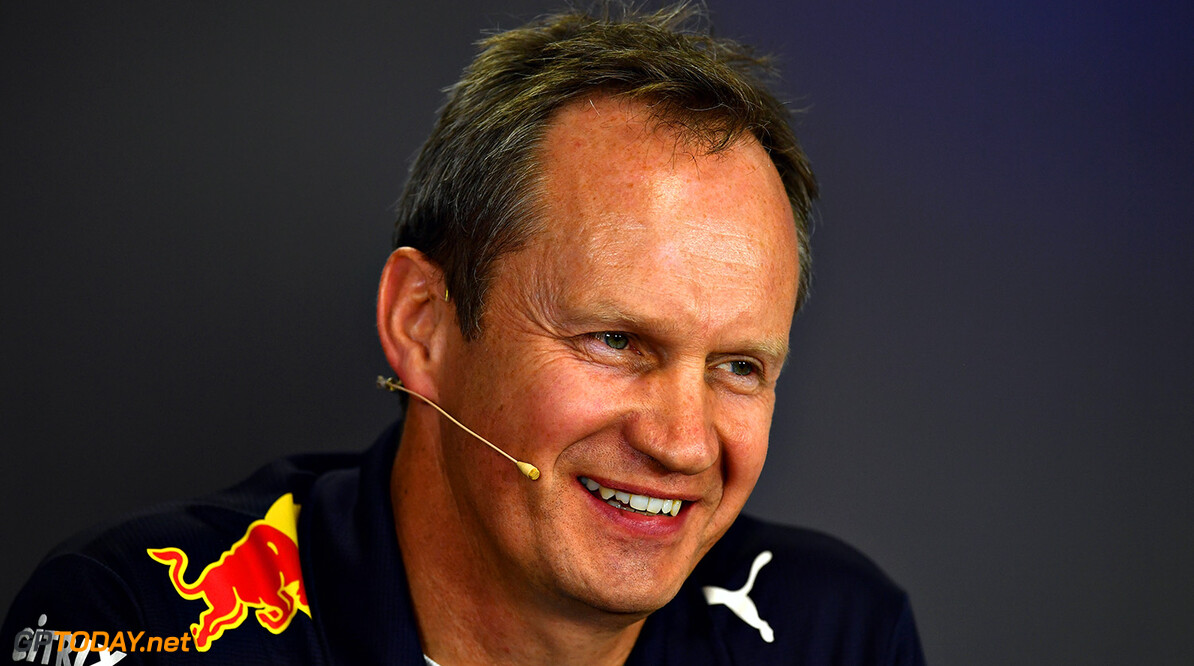 BUDAPEST, HUNGARY - JULY 28:  Red Bull Racing Head of Car Engineering Paul Monaghan talks in the Team Principals Press Conference after practice for the Formula One Grand Prix of Hungary at Hungaroring on July 28, 2017 in Budapest, Hungary.  (Photo by Dan Mullan/Getty Images) // Getty Images / Red Bull Content Pool  // P-20170728-01783 // Usage for editorial use only // Please go to www.redbullcontentpool.com for further information. //  F1 Grand Prix of Hungary - Practice Dan Mullan Budapest Hungary  P-20170728-01783