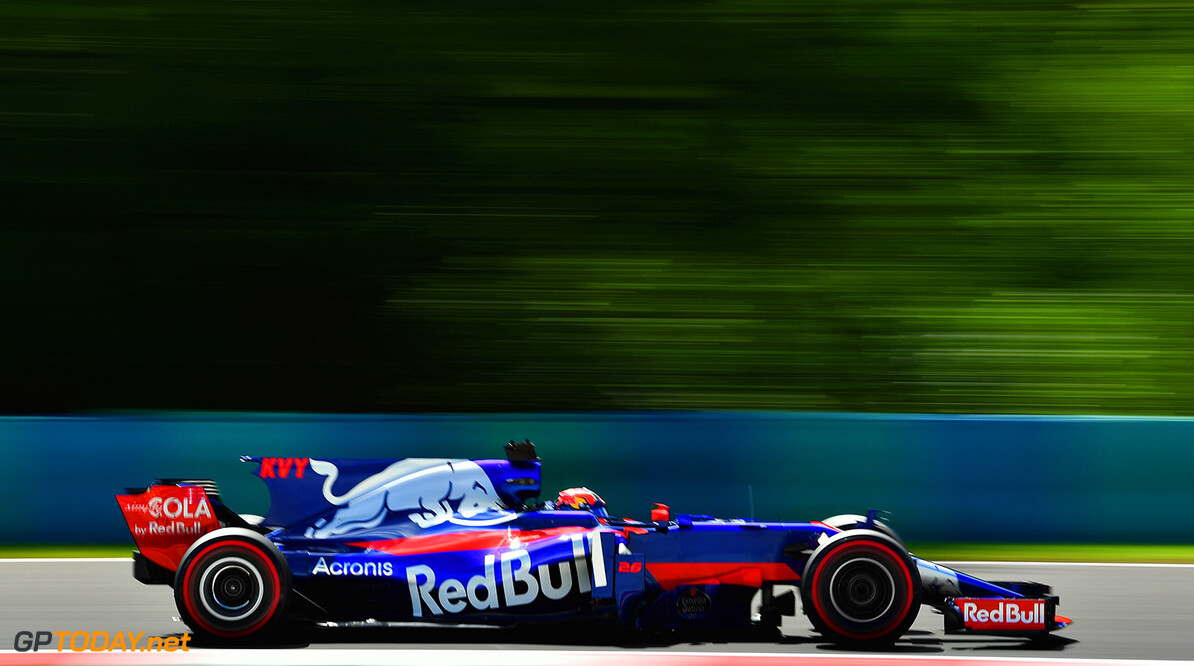 BUDAPEST, HUNGARY - JULY 28: Daniil Kvyat of Russia driving the (26) Scuderia Toro Rosso STR12 on track during practice for the Formula One Grand Prix of Hungary at Hungaroring on July 28, 2017 in Budapest, Hungary.  (Photo by Dan Mullan/Getty Images) // Getty Images / Red Bull Content Pool  // P-20170728-01528 // Usage for editorial use only // Please go to www.redbullcontentpool.com for further information. //  F1 Grand Prix of Hungary - Practice Dan Mullan Budapest Hungary  P-20170728-01528