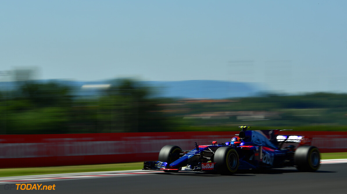 BUDAPEST, HUNGARY - JULY 30: Carlos Sainz of Spain driving the (55) Scuderia Toro Rosso STR12 on track during the Formula One Grand Prix of Hungary at Hungaroring on July 30, 2017 in Budapest, Hungary.  (Photo by Dan Mullan/Getty Images) // Getty Images / Red Bull Content Pool  // P-20170730-01480 // Usage for editorial use only // Please go to www.redbullcontentpool.com for further information. //  F1 Grand Prix of Hungary Dan Mullan Budapest Hungary  P-20170730-01480