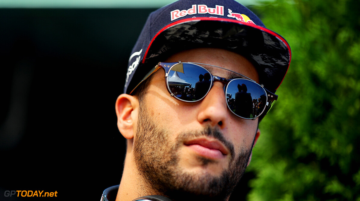 BUDAPEST, HUNGARY - JULY 30:  Daniel Ricciardo of Australia and Red Bull Racing on the drivers parade before the Formula One Grand Prix of Hungary at Hungaroring on July 30, 2017 in Budapest, Hungary.  (Photo by Mark Thompson/Getty Images) // Getty Images / Red Bull Content Pool  // P-20170730-00396 // Usage for editorial use only // Please go to www.redbullcontentpool.com for further information. //  F1 Grand Prix of Hungary  Budapest Hungary  P-20170730-00396