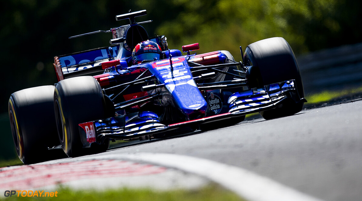 BUDAPEST, HUNGARY - JULY 30: Daniil Kvyat of Russia driving the (26) Scuderia Toro Rosso STR12 on track during the Formula One Grand Prix of Hungary at Hungaroring on July 30, 2017 in Budapest, Hungary.  (Photo by Lars Baron/Getty Images) // Getty Images / Red Bull Content Pool  // P-20170730-01471 // Usage for editorial use only // Please go to www.redbullcontentpool.com for further information. //  F1 Grand Prix of Hungary  Budapest Hungary  P-20170730-01471