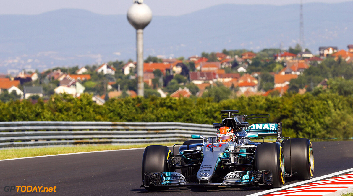 Formula One Testing www.sutton-images.com  George Russell (GBR) Mercedes-Benz F1 W08 Hybrid at Formula One Testing, Day One, Hungaroring, Hungary, Tuesday 1 August 2017. Hungarian F1 Testing Steven Tee Hungaroring Hungary  F1 Formula 1 Test Hungarian action