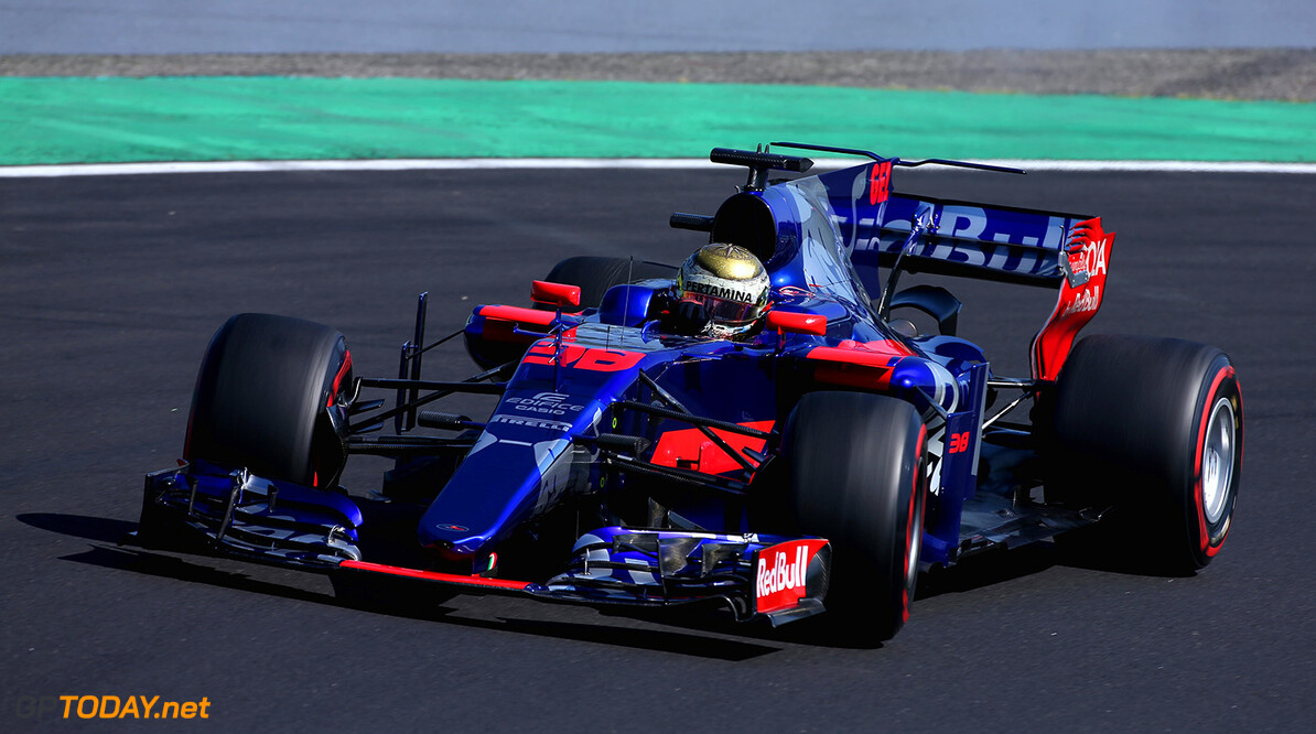 BUDAPEST, HUNGARY - AUGUST 01:  Sean Gelael of Indonesia driving the (96) Scuderia Toro Rosso STR12  during day one of F1 in-season testing at Hungaroring on August 1, 2017 in Budapest, Hungary.  (Photo by Charles Coates/Getty Images) // Getty Images / Red Bull Content Pool  // P-20170801-00479 // Usage for editorial use only // Please go to www.redbullcontentpool.com for further information. //  F1 In-Season Testing In Budapest - Day One Charles Coates Budapest Hungary  P-20170801-00479