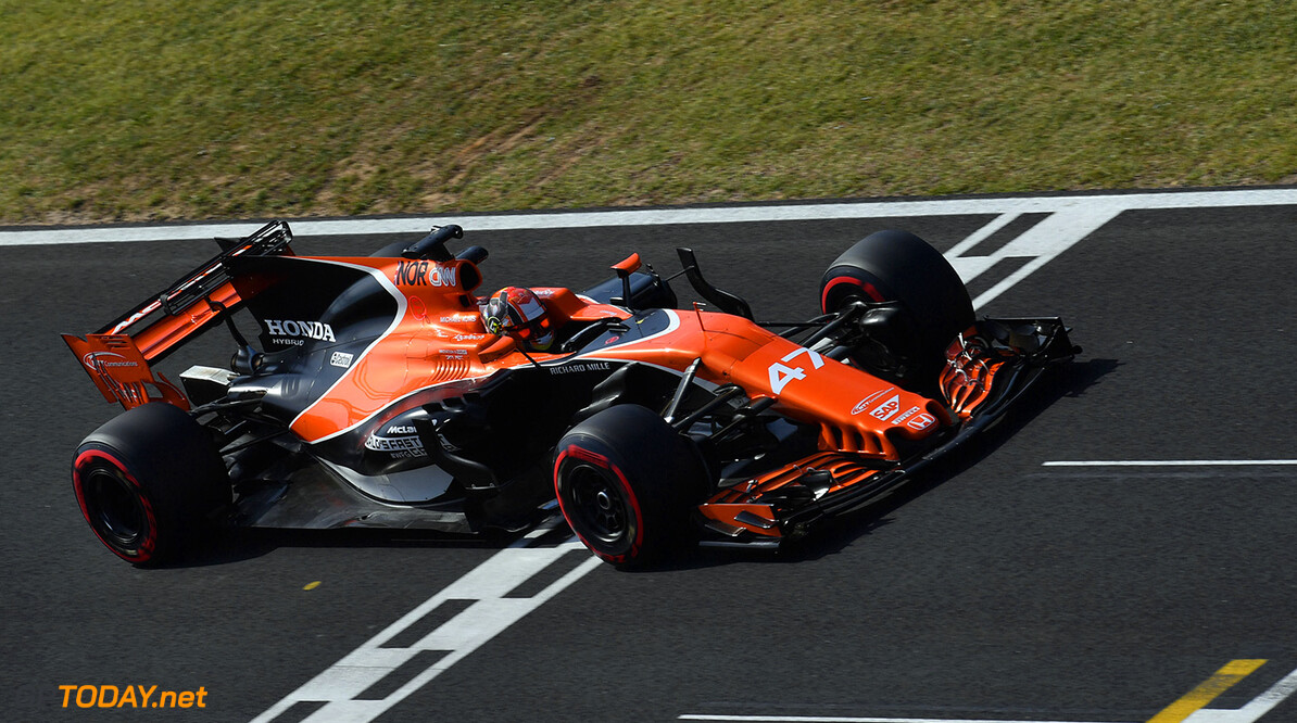 Formula One Testing www.sutton-images.com  Lando Norris (GBR) McLaren MCL32 at Formula One Testing, Day Two, Hungaroring, Hungary, Wednesday 2 August 2017. Hungarian F1 Testing  Hungaroring Hungary  F1 Formula 1 Test Hungarian action