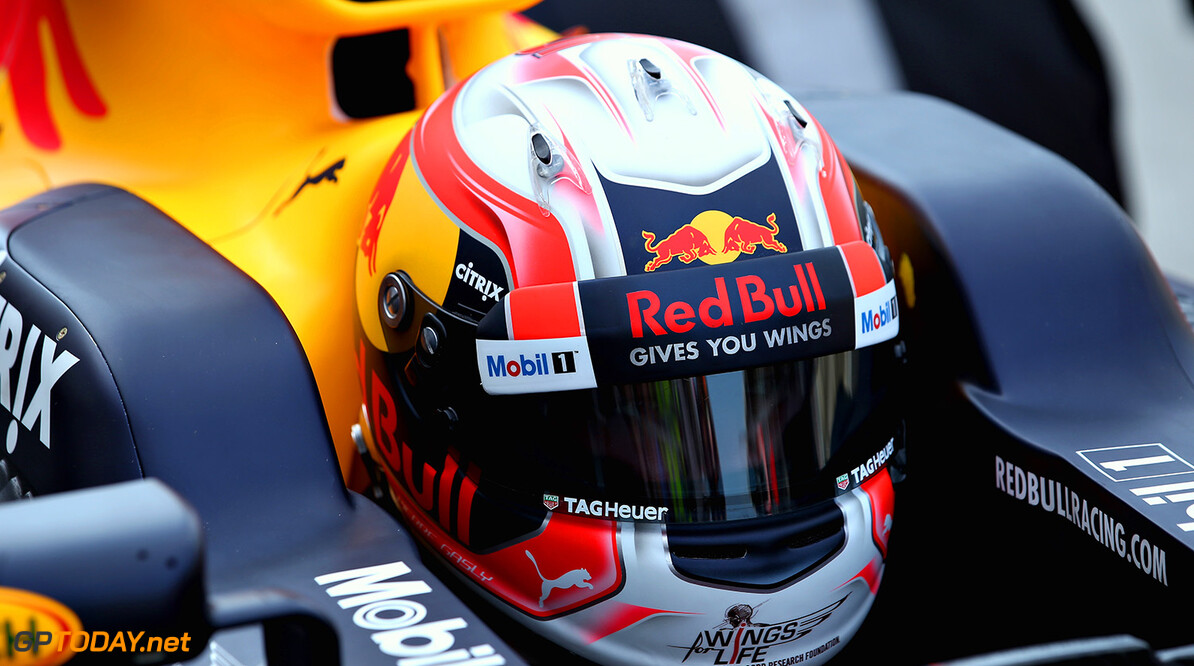 BUDAPEST, HUNGARY - AUGUST 02:  Pierre Gasly of France and Red Bull Racing prepares to drive in the garage during day two of F1 in season testing at Hungaroring on August 2, 2017 in Budapest, Hungary.  (Photo by Charles Coates/Getty Images) // Getty Images / Red Bull Content Pool  // P-20170802-00538 // Usage for editorial use only // Please go to www.redbullcontentpool.com for further information. //  F1 In-Season Testing In Budapest - Day Two Charles Coates Budapest Hungary  P-20170802-00538