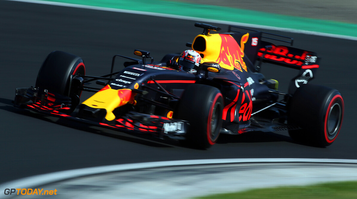 BUDAPEST, HUNGARY - AUGUST 02:  Pierre Gasly of France and Red Bull Racing drives in the Red Bull RB13 TAG Heuer on track during day two of F1 in season testing at Hungaroring on August 2, 2017 in Budapest, Hungary.  (Photo by Charles Coates/Getty Images) // Getty Images / Red Bull Content Pool  // P-20170802-00544 // Usage for editorial use only // Please go to www.redbullcontentpool.com for further information. //  F1 In-Season Testing In Budapest - Day Two Charles Coates Budapest Hungary  P-20170802-00544