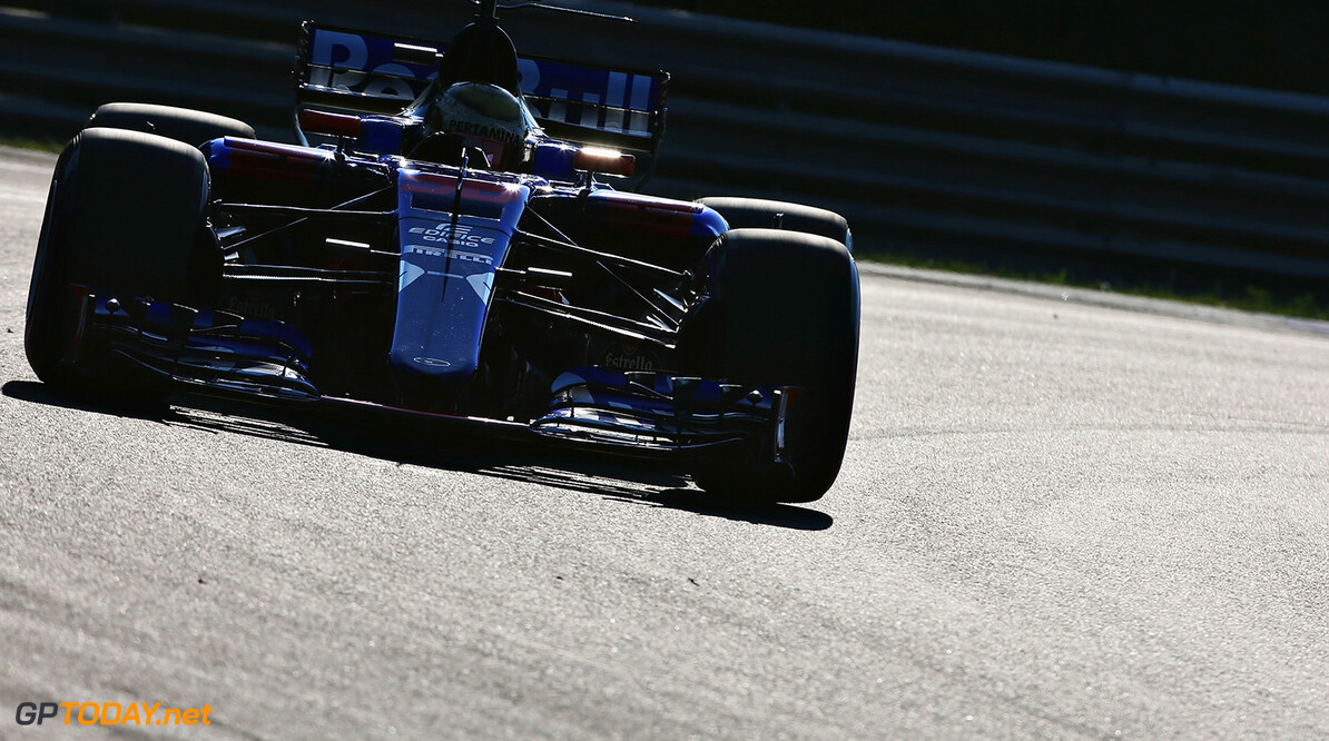 BUDAPEST, HUNGARY - AUGUST 01:  Sean Gelael of Indonesia driving the Scuderia Toro Rosso STR12 on track during day one of F1 in-season testing at Hungaroring on August 1, 2017 in Budapest, Hungary.  (Photo by Charles Coates/Getty Images) // Getty Images / Red Bull Content Pool  // P-20170801-01399 // Usage for editorial use only // Please go to www.redbullcontentpool.com for further information. //  F1 In-Season Testing In Budapest - Day One Charles Coates Budapest Hungary  P-20170801-01399