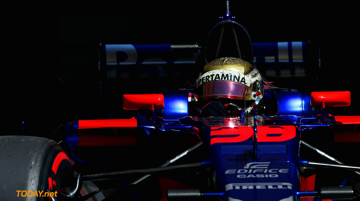 BUDAPEST, HUNGARY - AUGUST 01:  Sean Gelael of Indonesia driving the Scuderia Toro Rosso STR12 in the Pitlane during day one of F1 in-season testing at Hungaroring on August 1, 2017 in Budapest, Hungary.  (Photo by Charles Coates/Getty Images) // Getty Images / Red Bull Content Pool  // P-20170801-01402 // Usage for editorial use only // Please go to www.redbullcontentpool.com for further information. //  F1 In-Season Testing In Budapest - Day One Charles Coates Budapest Hungary  P-20170801-01402