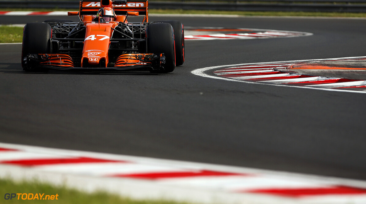 Hungaroring, Budapest, Hungary.  Wednesday 02 August 2017. Lando Norris, McLaren MCL32 Honda. World Copyright: Joe Portlock/LAT Images  ref: Digital Image _L5R2149      f1 formula 1 formula one action ts-live