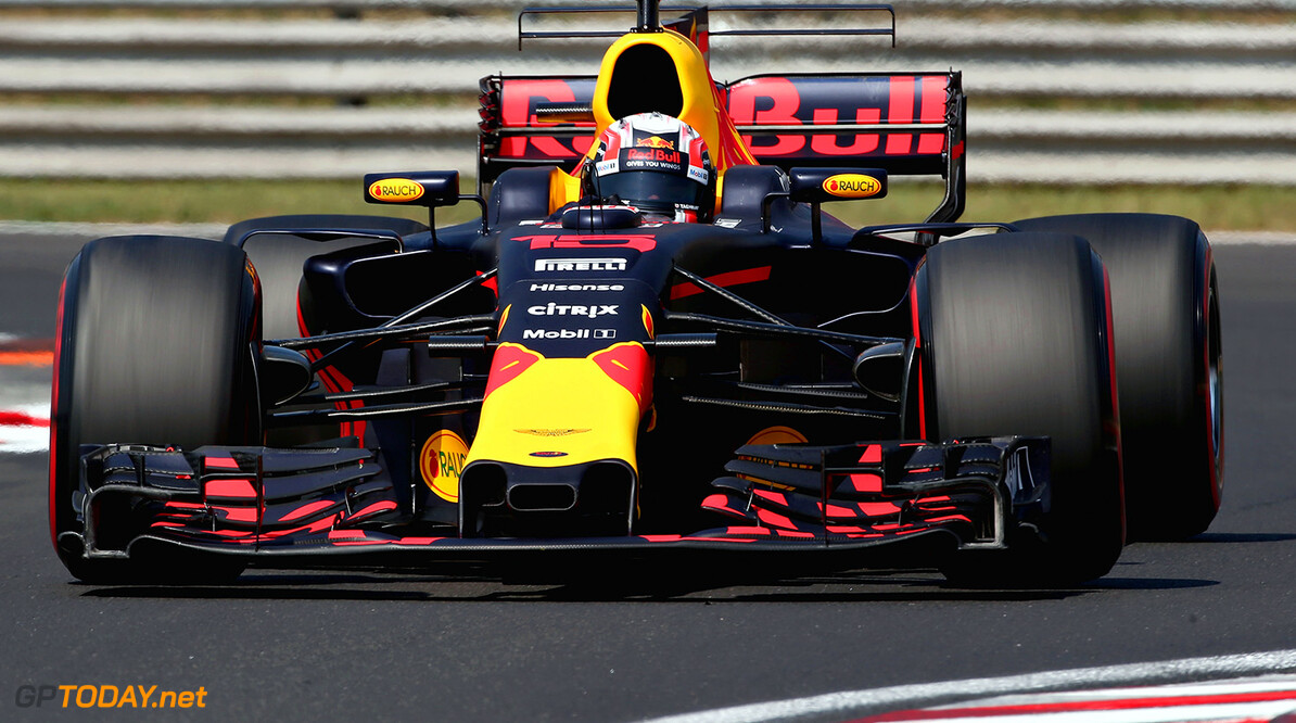 BUDAPEST, HUNGARY - AUGUST 02:  Pierre Gasly of France and Red Bull Racing drives in the Red Bull RB13 TAG Heuer on track during day two of F1 in season testing at Hungaroring on August 2, 2017 in Budapest, Hungary.  (Photo by Charles Coates/Getty Images) // Getty Images / Red Bull Content Pool  // P-20170802-00797 // Usage for editorial use only // Please go to www.redbullcontentpool.com for further information. //  F1 In-Season Testing In Budapest - Day Two Charles Coates Budapest Hungary  P-20170802-00797