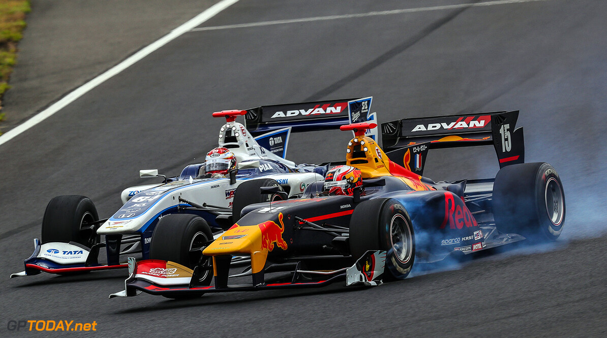Okayama,JAPAN,27.MAY.17 - MOTORSPORTS, RED BULL JUNIOR TEAM - Japanese Super Formula Championship, Okayama International Circuit. Image shows Pierre Gasly (FRA). // Dutch Photo Agency/Red Bull Content Pool // P-20170527-00900 // Usage for editorial use only // Please go to www.redbullcontentpool.com for further information. //  Pierre Gasly T.OGASAWARA Okayama-shi Japan  P-20170527-00900