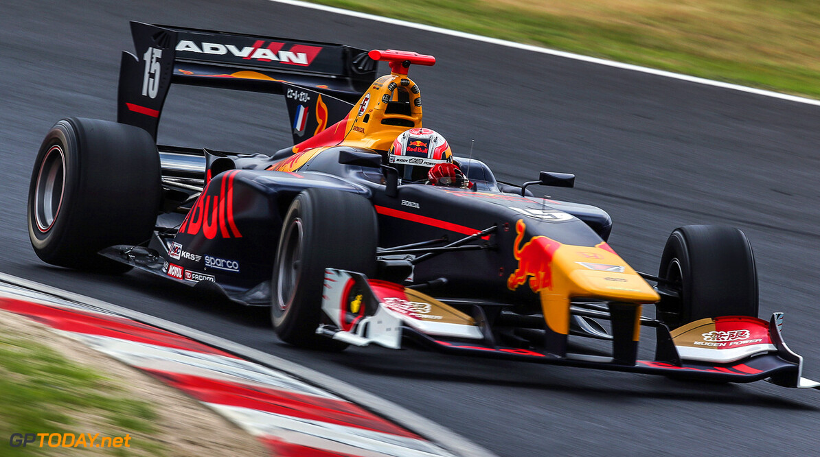 Okayama,JAPAN,26.MAY.17 - MOTORSPORTS, RED BULL JUNIOR TEAM - Japanese Super Formula Championship, Okayama International Circuit. Image shows Pierre Gasly (FRA). // Dutch Photo Agency/Red Bull Content Pool // P-20170526-00683 // Usage for editorial use only // Please go to www.redbullcontentpool.com for further information. //  Pierre Gasly T.Ogasawara Okayama-shi Japan  P-20170526-00683