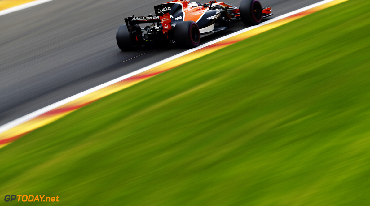 Spa Francorchamps, Belgium.  Friday 25 August 2017. Stoffel Vandoorne, McLaren MCL32 Honda. Photo: Glenn Dunbar/McLaren ref: Digital Image _31I5159  Glenn Dunbar    f1 formula 1 formula one gp grand prix Action
