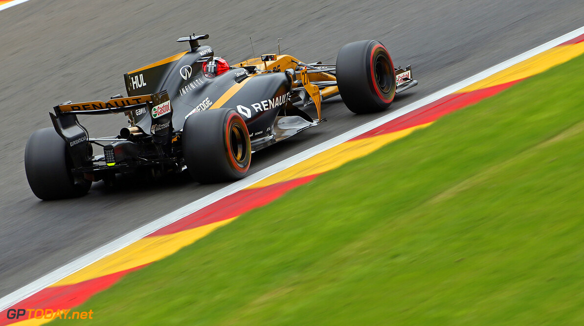 Formula One World Championship Nico Hulkenberg (GER) Renault Sport F1 Team RS17. Belgian Grand Prix, Friday 25th August 2017. Spa-Francorchamps, Belgium. Motor Racing - Formula One World Championship - Belgian Grand Prix - Practice Day - Spa Francorchamps, Belgium Renault Sport Formula One Team Spa Francorchamps Belgium  Formula One Formula 1 F1 GP Grand Prix Circuit Belgium Belgian Spa-Francorchamps Spa Francorchamps Spa Francorchamps JM746 Hulkenberg H?lkenberg Huelkenberg Action Track GP1712b