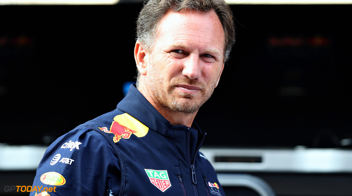 SPA, BELGIUM - AUGUST 25: Red Bull Racing Team Principal Christian Horner looks on from the pit wall during practice for the Formula One Grand Prix of Belgium at Circuit de Spa-Francorchamps on August 25, 2017 in Spa, Belgium.  (Photo by Mark Thompson/Getty Images) // Getty Images / Red Bull Content Pool  // P-20170825-00193 // Usage for editorial use only // Please go to www.redbullcontentpool.com for further information. //  F1 Grand Prix of Belgium - Practice Mark Thompson Spa Belgium  P-20170825-00193