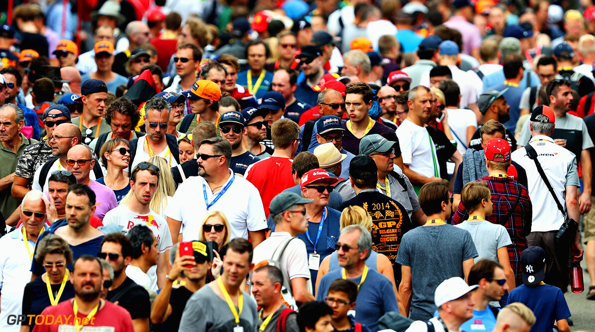 SPA, BELGIUM - AUGUST 25: Fans enjoy the atmosphere during practice for the Formula One Grand Prix of Belgium at Circuit de Spa-Francorchamps on August 25, 2017 in Spa, Belgium.  (Photo by Mark Thompson/Getty Images) // Getty Images / Red Bull Content Pool  // P-20170825-01848 // Usage for editorial use only // Please go to www.redbullcontentpool.com for further information. //  F1 Grand Prix of Belgium - Practice Mark Thompson Spa Belgium  P-20170825-01848