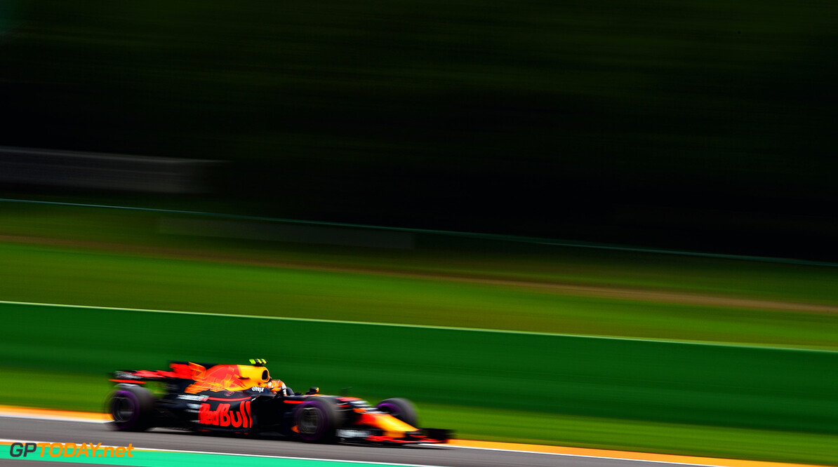 SPA, BELGIUM - AUGUST 25:  Max Verstappen of the Netherlands driving the (33) Red Bull Racing Red Bull-TAG Heuer RB13 TAG Heuer on track during practice for the Formula One Grand Prix of Belgium at Circuit de Spa-Francorchamps on August 25, 2017 in Spa, Belgium.  (Photo by Dan Mullan/Getty Images) // Getty Images / Red Bull Content Pool  // P-20170825-01341 // Usage for editorial use only // Please go to www.redbullcontentpool.com for further information. //  F1 Grand Prix of Belgium - Practice Dan Mullan Spa Belgium  P-20170825-01341