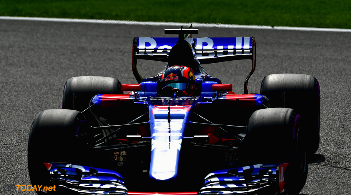 SPA, BELGIUM - AUGUST 26: Daniil Kvyat of Russia driving the (26) Scuderia Toro Rosso STR12 on track during qualifying for the Formula One Grand Prix of Belgium at Circuit de Spa-Francorchamps on August 26, 2017 in Spa, Belgium.  (Photo by Dan Mullan/Getty Images) // Getty Images / Red Bull Content Pool  // P-20170826-00978 // Usage for editorial use only // Please go to www.redbullcontentpool.com for further information. //  F1 Grand Prix of Belgium - Qualifying Dan Mullan Spa Belgium  P-20170826-00978
