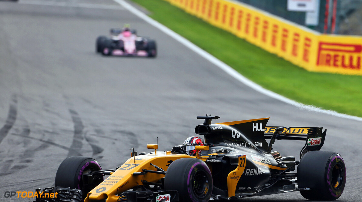 Formula One World Championship Nico Hulkenberg (GER) Renault Sport F1 Team RS17. Belgian Grand Prix, Sunday 27th August 2017. Spa-Francorchamps, Belgium. Motor Racing - Formula One World Championship - Belgian Grand Prix - Race Day - Spa Francorchamps, Belgium Renault Sport Formula One Team Spa Francorchamps Belgium  Formula One Formula 1 F1 GP Grand Prix Circuit Belgium Belgian Spa-Francorchamps Spa Francorchamps Spa Francorchamps JM748 Hulkenberg H?lkenberg Huelkenberg Action Track GP1712d