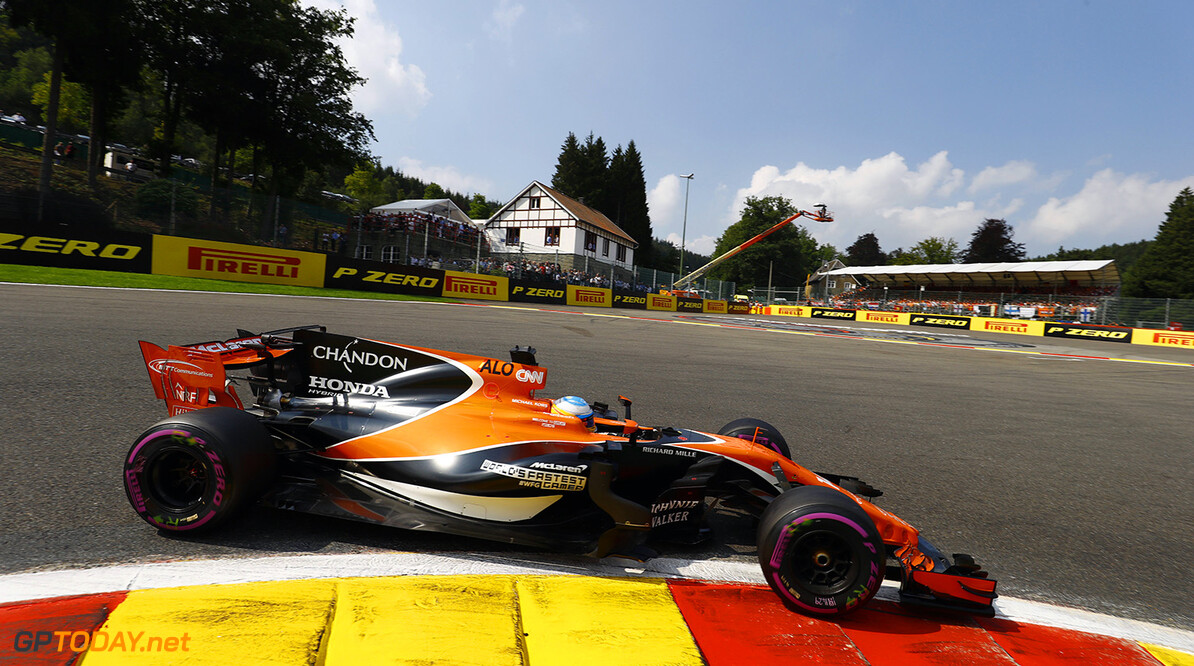 Spa Francorchamps, Belgium.  Sunday 27 August 2017. Fernando Alonso, McLaren MCL32 Honda. Photo: Steven Tee/McLaren ref: Digital Image _R3I1744  Steven Tee    f1 formula 1 formula one gp grand prix Action