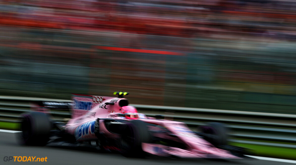 Formula One World Championship Esteban Ocon (FRA) Sahara Force India F1 VJM10. Belgian Grand Prix, Sunday 27th August 2017. Spa-Francorchamps, Belgium. Motor Racing - Formula One World Championship - Belgian Grand Prix - Race Day - Spa Francorchamps, Belgium James Moy Photography Spa Francorchamps Belgium  Formula One Formula 1 F1 GP Grand Prix Circuit Belgium Belgian Spa-Francorchamps Spa Francorchamps Spa JM748 Action Track GP1712d GP1712d_M