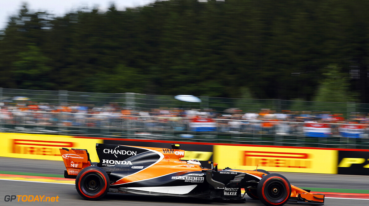 Spa Francorchamps, Belgium.  Sunday 27 August 2017. Stoffel Vandoorne, McLaren MCL32 Honda. Photo: Steven Tee/McLaren ref: Digital Image _O3I2968  Steven Tee    f1 formula 1 formula one gp grand prix Action