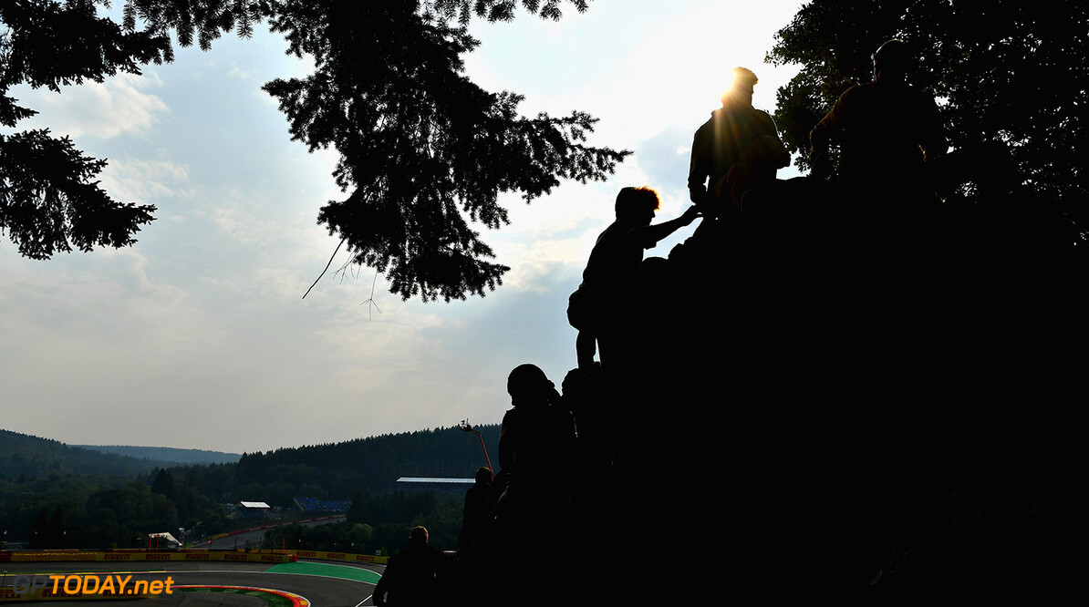 SPA, BELGIUM - AUGUST 27:  Fans take a seat to watch the action before the Formula One Grand Prix of Belgium at Circuit de Spa-Francorchamps on August 27, 2017 in Spa, Belgium.  (Photo by Dan Mullan/Getty Images) // Getty Images / Red Bull Content Pool  // P-20170827-00945 // Usage for editorial use only // Please go to www.redbullcontentpool.com for further information. //  F1 Grand Prix of Belgium Dan Mullan Spa Belgium  P-20170827-00945