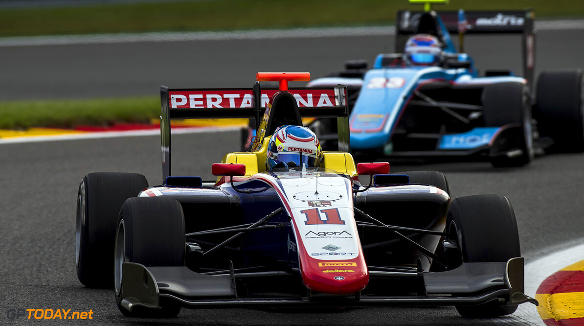 2017 GP3 Series Round 5.  Spa-Francorchamps, Spa, Belgium. Friday 25 August 2017. Ryan Tveter (USA, Trident).  Photo: Zak Mauger/GP3 Series Media Service. ref: Digital Image _54I9635  Zak Mauger    Practice action