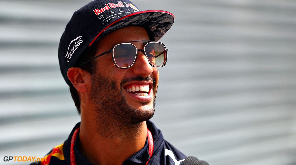 MONZA, ITALY - AUGUST 31:  Daniel Ricciardo of Australia and Red Bull Racing in the Paddock during previews for the Formula One Grand Prix of Italy at Autodromo di Monza on August 31, 2017 in Monza, Italy.  (Photo by Clive Rose/Getty Images) // Getty Images / Red Bull Content Pool  // P-20170831-05655 // Usage for editorial use only // Please go to www.redbullcontentpool.com for further information. //  F1 Grand Prix of Italy - Previews Clive Rose Monza Italy  P-20170831-05655
