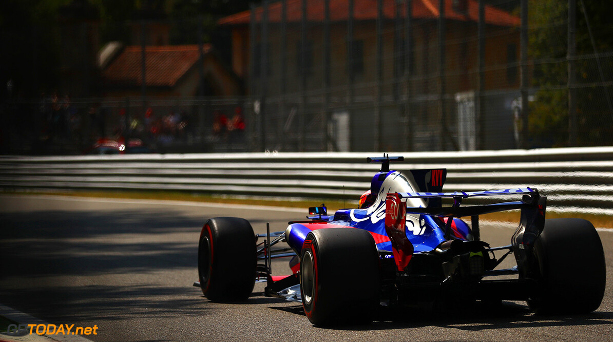 MONZA, ITALY - SEPTEMBER 01: Daniil Kvyat of Russia driving the (26) Scuderia Toro Rosso STR12 on track during practice for the Formula One Grand Prix of Italy at Autodromo di Monza on September 1, 2017 in Monza, Italy.  (Photo by Dan Istitene/Getty Images) // Getty Images / Red Bull Content Pool  // P-20170901-02925 // Usage for editorial use only // Please go to www.redbullcontentpool.com for further information. //  F1 Grand Prix of Italy - Practice Dan Istitene Monza Italy  P-20170901-02925