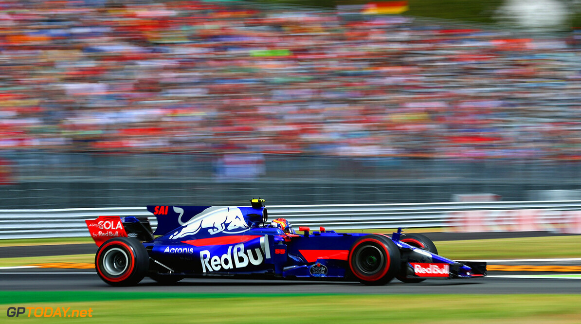 MONZA, ITALY - SEPTEMBER 01: Carlos Sainz of Spain driving the (55) Scuderia Toro Rosso STR12 on track during practice for the Formula One Grand Prix of Italy at Autodromo di Monza on September 1, 2017 in Monza, Italy.  (Photo by Clive Rose/Getty Images) // Getty Images / Red Bull Content Pool  // P-20170901-02174 // Usage for editorial use only // Please go to www.redbullcontentpool.com for further information. //  F1 Grand Prix of Italy - Practice Clive Rose Monza Italy  P-20170901-02174