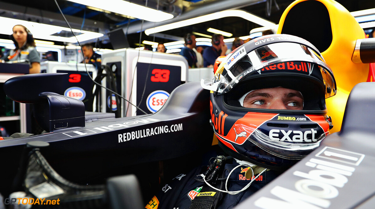 MONZA, ITALY - SEPTEMBER 01:  Max Verstappen of Netherlands and Red Bull Racing prepares to drive during practice for the Formula One Grand Prix of Italy at Autodromo di Monza on September 1, 2017 in Monza, Italy.  (Photo by Mark Thompson/Getty Images) // Getty Images / Red Bull Content Pool  // P-20170901-01929 // Usage for editorial use only // Please go to www.redbullcontentpool.com for further information. //  F1 Grand Prix of Italy - Practice Mark Thompson Monza Italy  P-20170901-01929