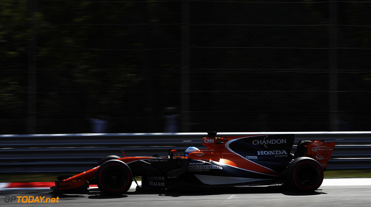 Autodromo Nazionale di Monza, Italy. Friday 1 September 2017. Fernando Alonso, McLaren MCL32 Honda. Photo: Glenn Dunbar/McLaren ref: Digital Image _31I0148  Glenn Dunbar    f1 formula 1 formula one gp grand prix Action