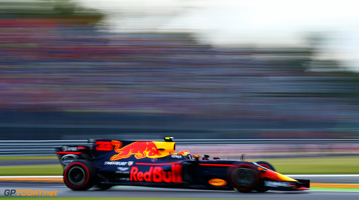 MONZA, ITALY - SEPTEMBER 01: Max Verstappen of the Netherlands driving the (33) Red Bull Racing Red Bull-TAG Heuer RB13 TAG Heuer on track during practice for the Formula One Grand Prix of Italy at Autodromo di Monza on September 1, 2017 in Monza, Italy.  (Photo by Clive Rose/Getty Images) // Getty Images / Red Bull Content Pool  // P-20170901-02374 // Usage for editorial use only // Please go to www.redbullcontentpool.com for further information. //  F1 Grand Prix of Italy - Practice Clive Rose Monza Italy  P-20170901-02374