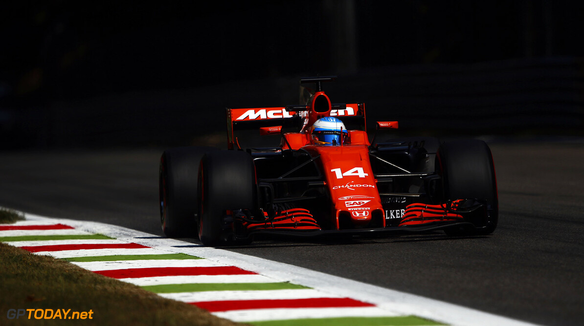 Autodromo Nazionale di Monza, Italy. Friday 1 September 2017. Fernando Alonso, McLaren MCL32 Honda. Photo: Andrew Hone/McLaren ref: Digital Image _ONY5567      f1 formula 1 formula one gp grand prix Action