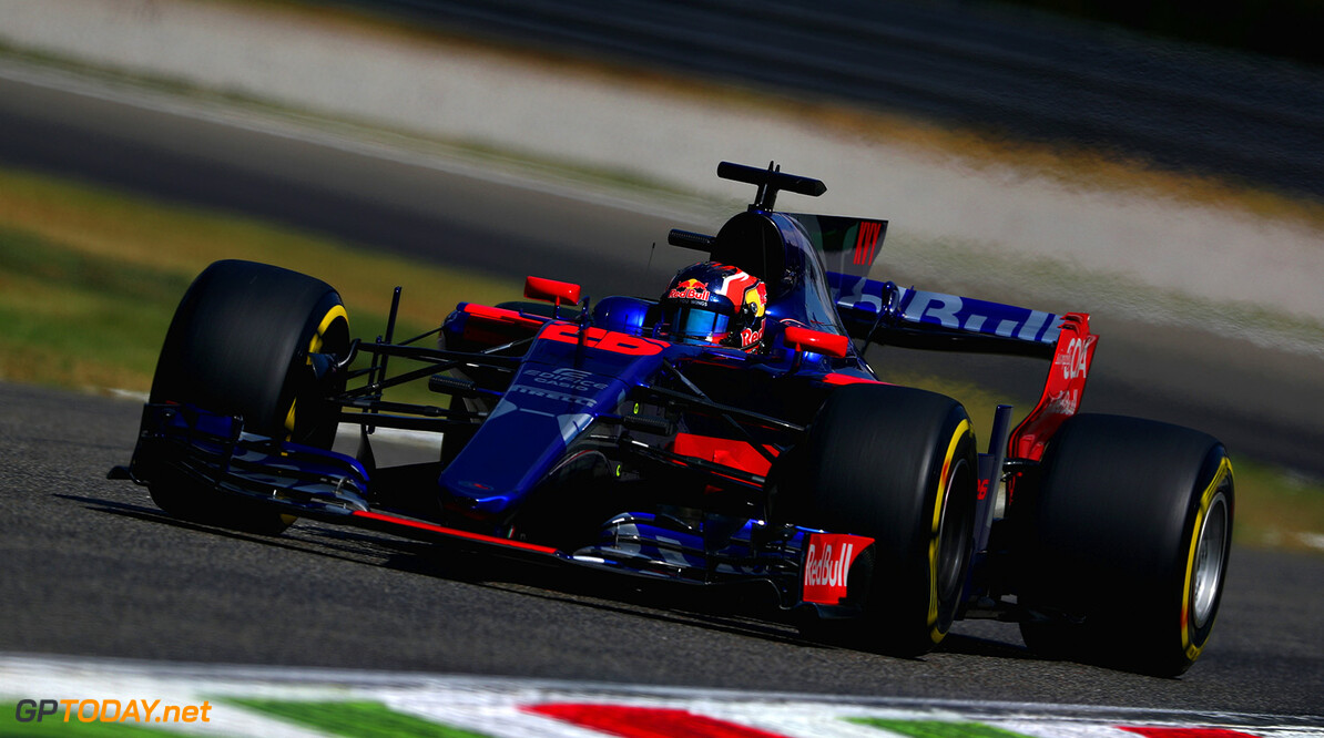 MONZA, ITALY - SEPTEMBER 01: Daniil Kvyat of Russia driving the (26) Scuderia Toro Rosso STR12 on track during practice for the Formula One Grand Prix of Italy at Autodromo di Monza on September 1, 2017 in Monza, Italy.  (Photo by Dan Istitene/Getty Images) // Getty Images / Red Bull Content Pool  // P-20170901-02614 // Usage for editorial use only // Please go to www.redbullcontentpool.com for further information. //  F1 Grand Prix of Italy - Practice Dan Istitene Monza Italy  P-20170901-02614