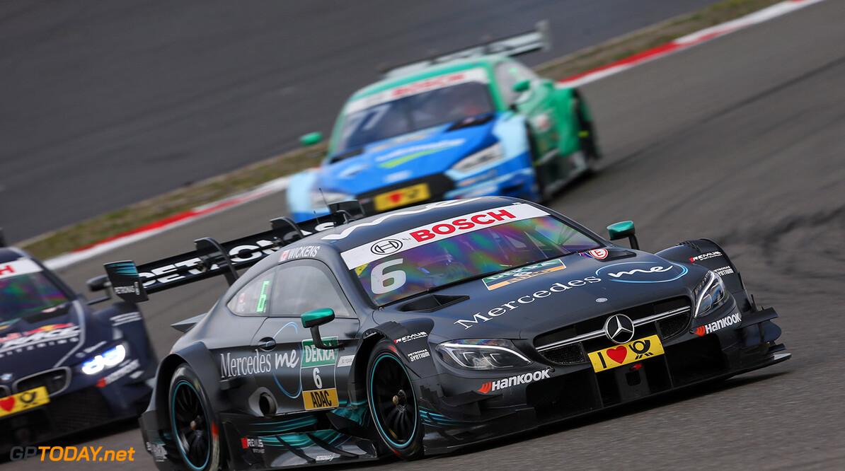 #6 Robert Wickens, Mercedes-AMG C 63 DTM Motorsports: DTM race Nuerburgring Gruppe C / Hoch Zwei    Aktion action Fahraufnahme Fahrszene Motorsport DTM Rennen race Rennszene VersandPartnerDTM VersandPartnerStandard race action